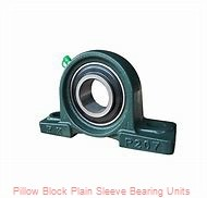 1-1/8 in x 4-1/4 to 5 in x 1-3/16 in  Dodge P2BLT7102 Pillow Block Plain Sleeve Bearing Units