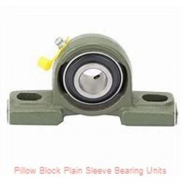 3-3/16 in x 7-5/8 to 8-3/8 in x 6-7/8 in  Dodge P2BBASO303 Pillow Block Plain Sleeve Bearing Units