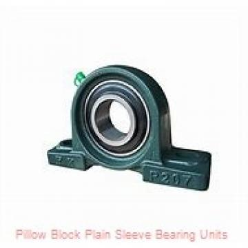 1.2530 in x 4 in x 1 1/2 in  Bunting Bearings, LLC LA203424 Pillow Block Plain Sleeve Bearing Units