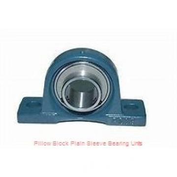 1-1/2 in x 3-1/2 in x 1-1/8 in  Dodge P2BLM8108 Pillow Block Plain Sleeve Bearing Units