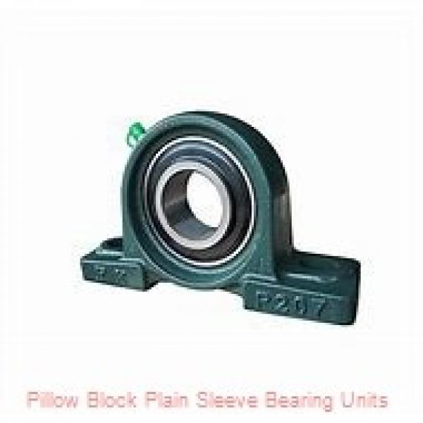 1-1/8 in x 4-1/4 to 5 in x 1-3/16 in  Dodge P2BLT7102 Pillow Block Plain Sleeve Bearing Units #1 image